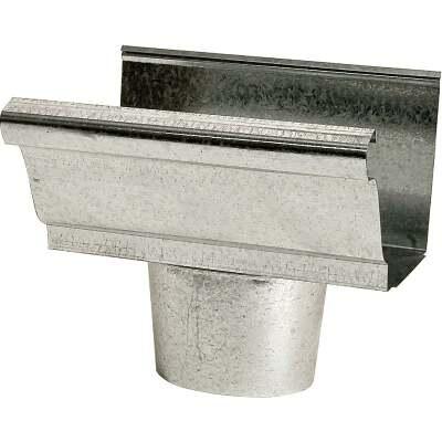 NorWesco 4 In. K Style Steel Oval Gutter Drop Outlet