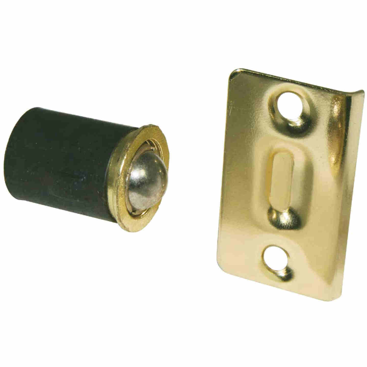 Ultra Hardware Polished Brass Closet Door Ball Catch Image 1