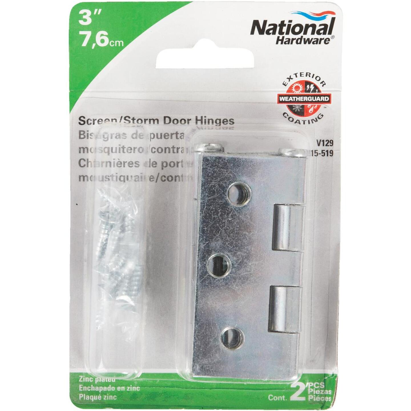 National 3 In. Square Corner Zinc Screen Door Hinge (2-Pack) Image 2