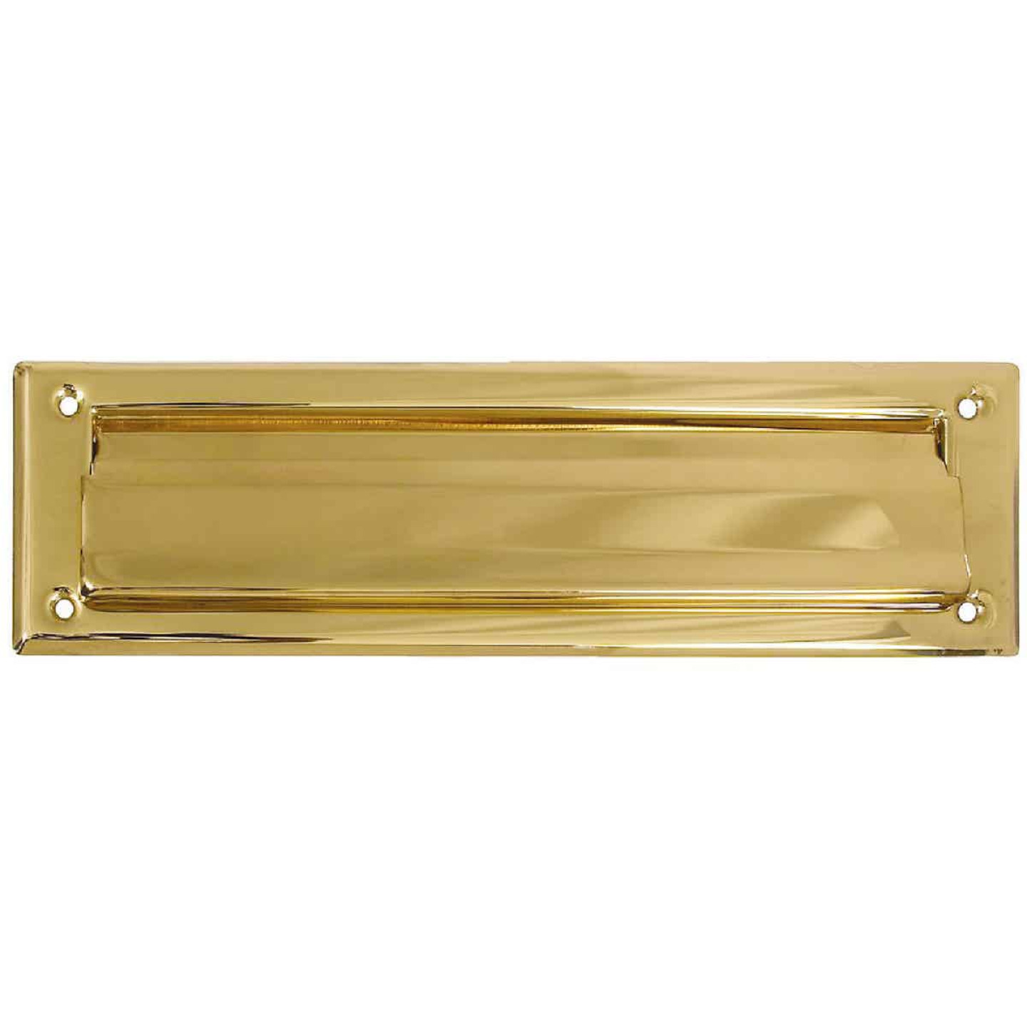 National 2 In. x 11 In. Polished Brass Mail Slot Image 1