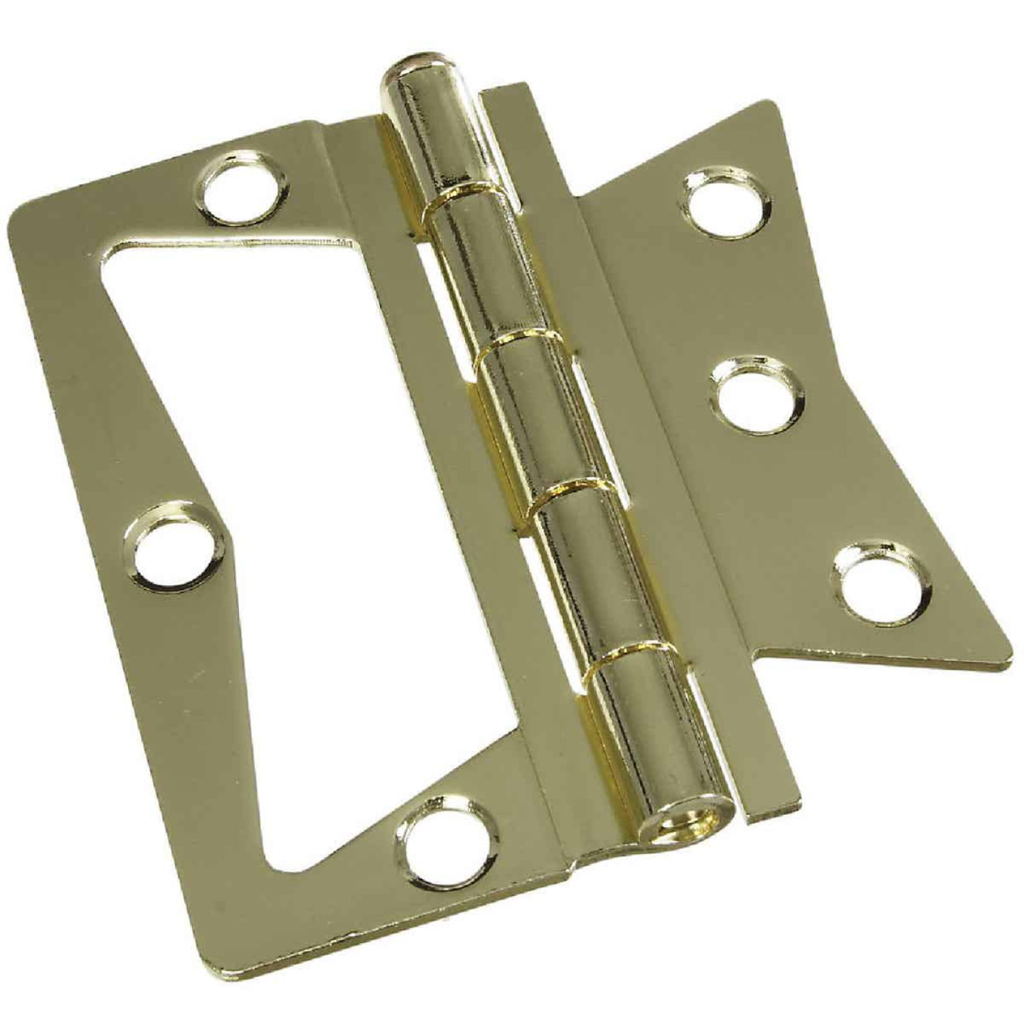 National 3-1/2 In. x 3-1/2 In. Non-Mortise Hinge (2 Count) Image 1