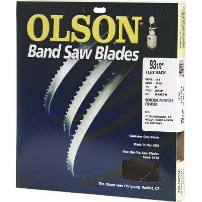 Olson 93-1/2 In. x 1/8 In. 14 TPI Regular Flex Back Band Saw Blade