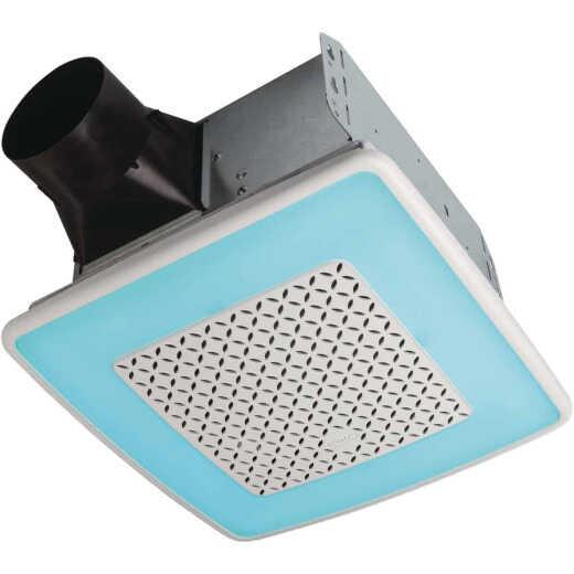 Broan ChromaComfort 110 CFM 1.5 Sones 120V Multi-Color LED Light Bath Exhaust Fan with Smart Phone App