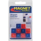 Master Magnetics 5/8 In. H. Red/Blue Plastic Magnetic Note Holder Push Pins (10-Pack) Image 1