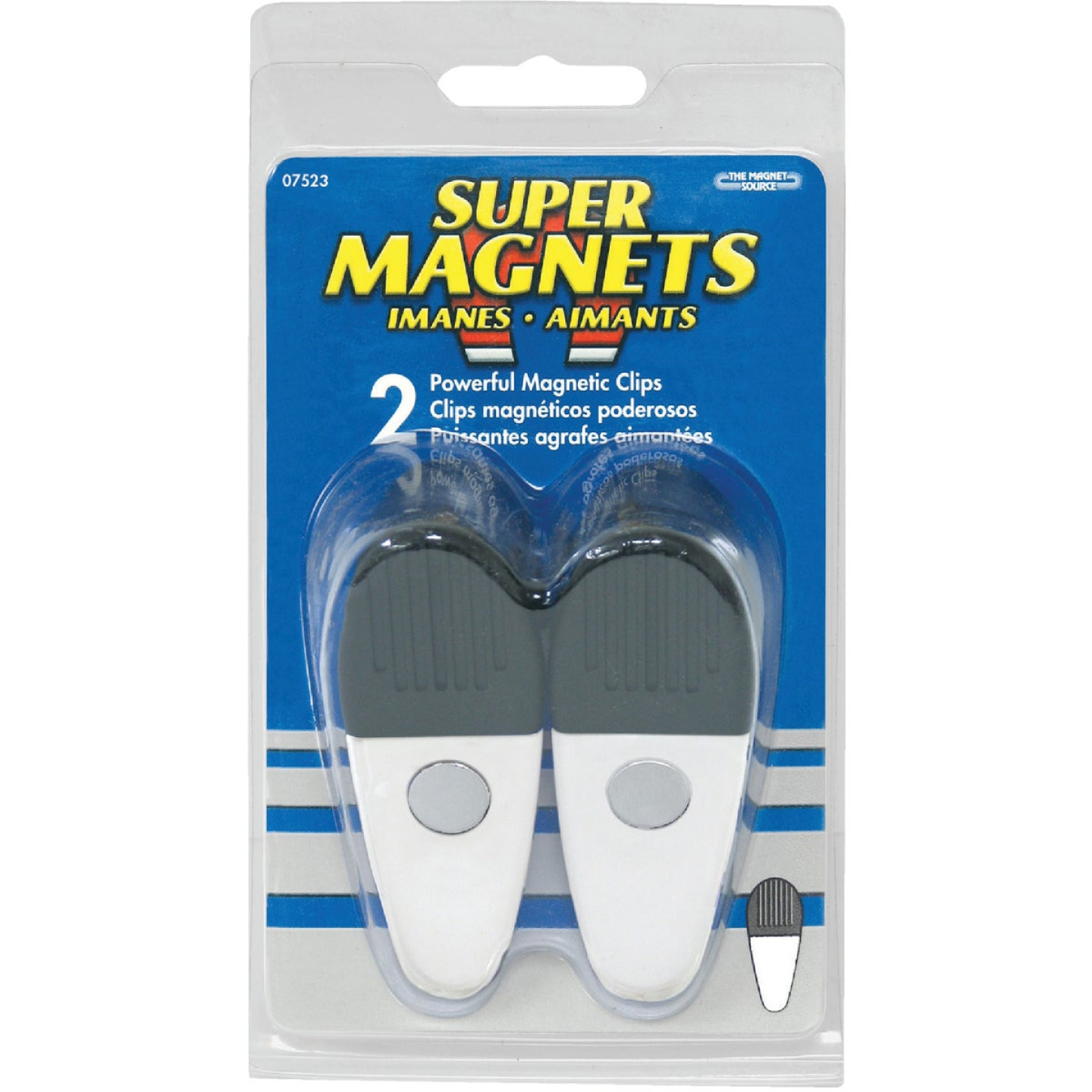 Master Magnetics 3-1/2 In. White Magnetic Clip (2-Pack) Image 2