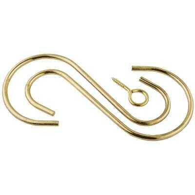 National Hardware 6 In. Brass Steel Extension Hook Kit