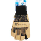 West Chester Men's XL Pigskin Leather Winter Glove with Knit Wrist Image 2