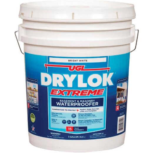 Drylok White Basement & Masonry Waterproofer Concrete Sealer, 5 Gal.